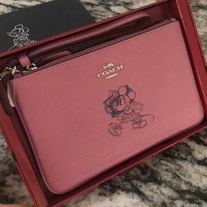 Coach Minnie Mouse Wristlet